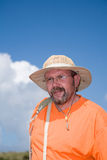 Man with hat Stock Images