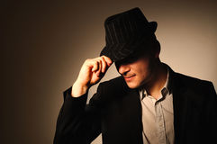 Man in hat. Royalty Free Stock Photos