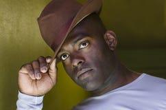 Man in Hat Stock Photo