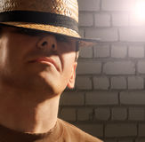 Man in hat Stock Photography