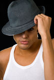 Man in hat Royalty Free Stock Image