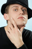 The man in a hat. Young man in a hat Stock Photography