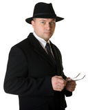 A man in a hat and coat Royalty Free Stock Photo