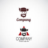 Man in hat company logo Royalty Free Stock Photo