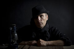 Man in a hat Stock Photography