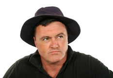 Man Hat Looking Up Royalty Free Stock Image