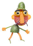 Man in hat made of vegetables Royalty Free Stock Image