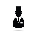 Man with hat  silhouette Stock Photo