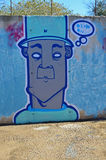 Man In A Hat Street Art Royalty Free Stock Photos
