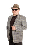 Man in a hat and sunglasses. Royalty Free Stock Photography