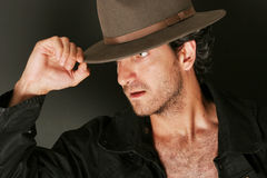Man with hat and trenchcoat Royalty Free Stock Photo