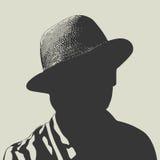 Man in hat vector illustration Stock Photo