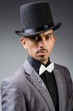 The man with the hat in vintage concept Stock Photography