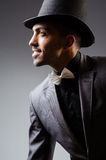 The man with the hat in vintage concept Royalty Free Stock Photo
