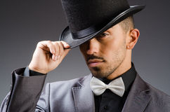 Man with hat in vintage concept Royalty Free Stock Photo