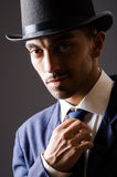 Man with hat Stock Photos