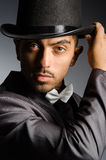 Man with hat. The man with hat in vintage concept Stock Photo