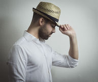 Man with Hat Stock Image
