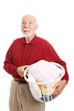 Man Hates Laundry Royalty Free Stock Photo
