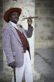 Man in Havana with Cigar, Cuba Royalty Free Stock Image