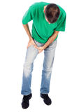 Man have pain in leg, thigh Royalty Free Stock Images