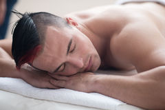 Man have relaxing massage Stock Photo
