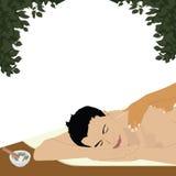 Man having an ayurvedic massage Stock Photography