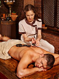Man having Ayurvedic spa treatment Stock Photo