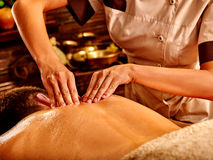 Man having Ayurvedic spa treatment Stock Photography