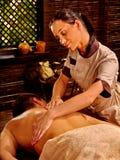 Man having Ayurvedic spa treatment Stock Photo