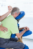Man having back massage Stock Images