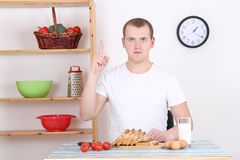 Man having breakfast in the kitchen Royalty Free Stock Photo