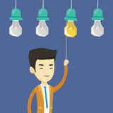 Man having business idea vector illustration. Royalty Free Stock Image