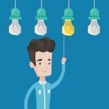 Man having business idea vector illustration. Royalty Free Stock Images
