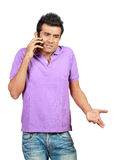 Man having a call royalty free stock photo