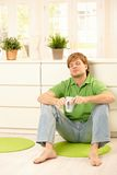 Man having coffee Stock Images