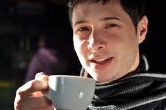 Man having coffee Stock Image