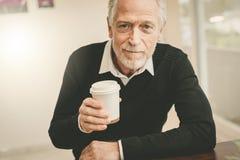 Man having coffee break royalty free stock photos