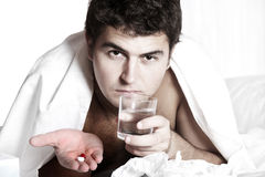 Man having a cold Stock Image