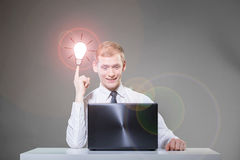 Man having concept of idea Royalty Free Stock Photography