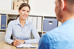Man having consultation meeting Royalty Free Stock Image