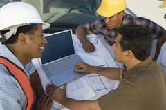 Man Having Discussion With Architect Team royalty free stock photo