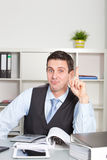Man having a eureka moment as he solves a problem Royalty Free Stock Images