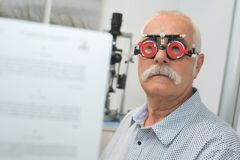 Man having eye test. Man having an eye test Stock Image