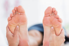 Man having feet massage Royalty Free Stock Photography