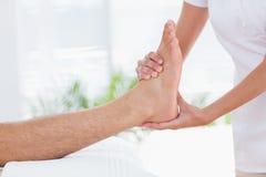 Man having foot massage Royalty Free Stock Photo