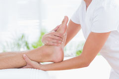 Man having foot massage Royalty Free Stock Images