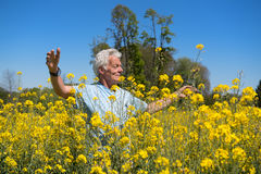 Man having freedom in nature Royalty Free Stock Photography