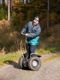 Man having fun on segway Royalty Free Stock Image