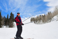 Man Having fun on the Ski Slopes Stock Photos